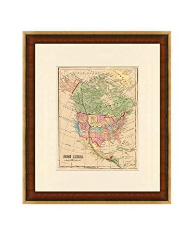 Map Antiquities Antique Map Of North America, 1856, Multi