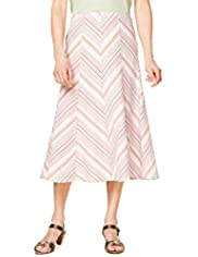 Classic Collection Cotton Rich Striped Skirt