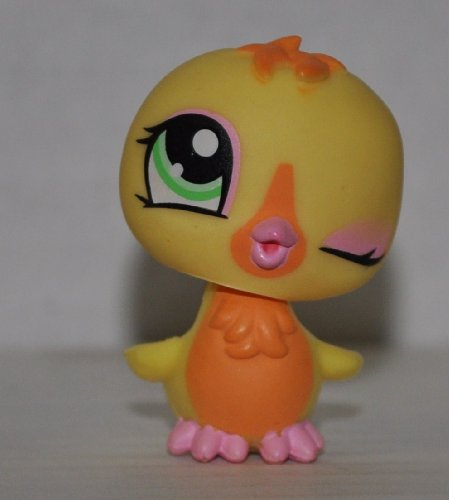 Chick #1329 (Yellow, Blue Eyes) - Littlest Pet Shop (Retired) Collector Toy - LPS Collectible Replacement Figure - Loose (OOP Out of Package & Print) - 1