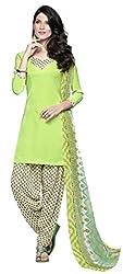 Fashion Storey Fancy Pista Green Crepe Dress Material