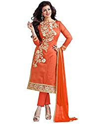 marvadi collections orange cotton dress materials