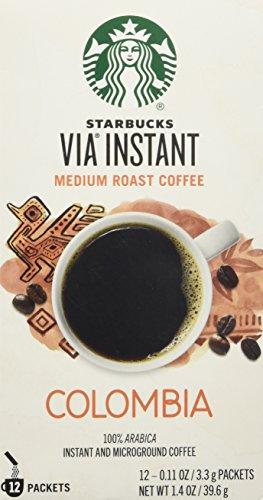 Starbucks VIA® Colombia Coffee, Medium Instant, 1.4 Ounce (Starbucks Via Coffee compare prices)