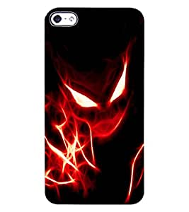ColourCraft Flaming Eyes Design Back Case Cover for APPLE IPHONE 4S