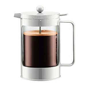 White French Press Coffee Maker : Bodum Bean Double Wall Insulated French Press 51-Ounce Coffee Maker, White: Amazon.co.uk ...
