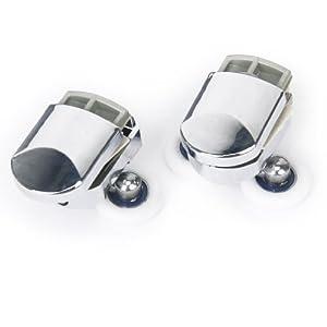 1 paire de Roues Roulettes Rouleaux de Porte de Douche Diamètre de 25mm