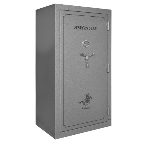 Winchester R45 Ranger Deluxe 1 Hour Fire / 51 Gun Safe - R45- Grey - Electronic Lock - Door Panel Organization Included - 1 Hour 1400 Degree Rating - Three Layers Of 1/2 Inch Fireboard In The Door - Palusol Heat Expandable Door Seal - UL Listed For Burgla