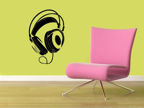 Housewares Vinyl Decal Music Shop Headphones Dj Night Club Home Wall Art Decor Removable Stylish Sticker Mural Unique Design For Any Room