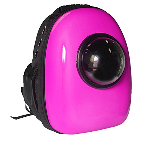 Pet Travel Portable Bag Carrier for Cat and Small Dog Home& Outdoor Waterproof Premium Handbag Backpack(Rose)