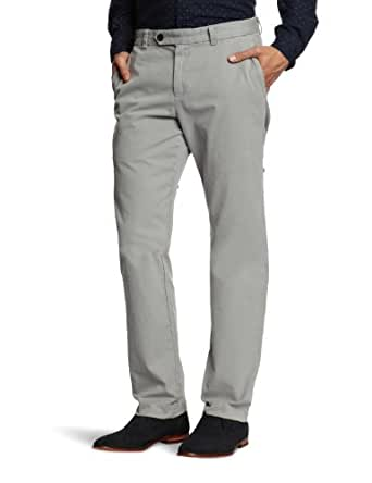Brooks Brothers Milano Garment Dyed Twill Chino Straight Men's Trousers Grey W30 INxL34 IN