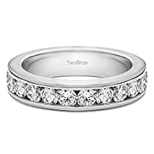 buy 10K White Gold Gorgeous Channel Set Wedding Ring With Diamonds (0.24 Ct. Twt.)