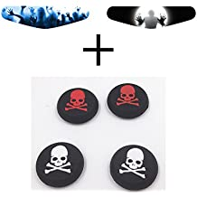 AL Pacino Zombie Led Light Bar Decals Sticker & Skull Thumb Grip Combo Set For Dualshock 4
