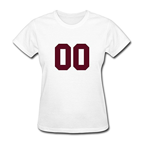 100% Cotton Crazy 00 Tee For Women'S - Round Neck front-790993