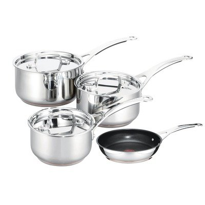 Tefal By Jamie Oliver Professional Series Stainless Steel Copper Heart Set, 4 Piece