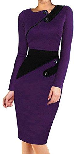 Colyanda Women's Vintage Wear To Work Cap Sleeve Business Pencil Sheath Dress