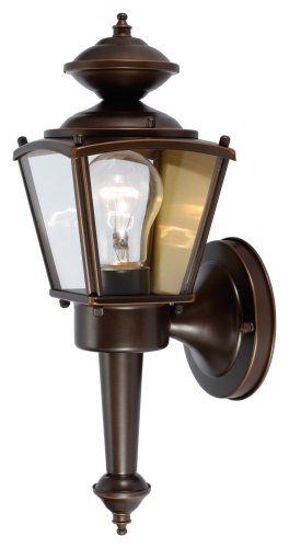 Hardware House 544213 13-1/2-Inch by 4-1/2-Inch Outdoor Lighting Fixture Rust