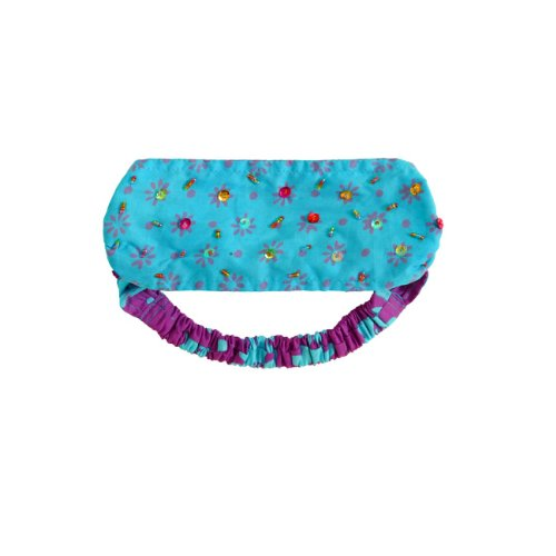 Girls Sequined Headband Bandana In Purple And Turquoise