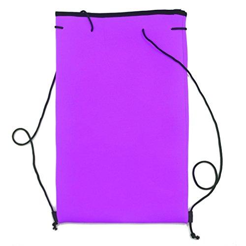 Fenyi da ragazza color block neoprene bikini costumi da bagno Purple Small