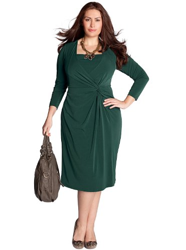 Discount IGIGI by Yuliya Raquel Plus Size Vanessa Dress in Evergreen