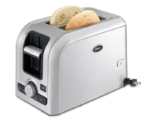 Oster TSSTRTS2S2 2-Slice Toaster, Brushed Stainless