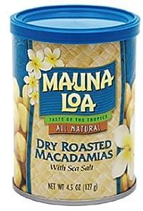 MAUNALOA(マウナロア) 4.5oz缶 マカダミアナッツ ドライ ロースト(塩味)