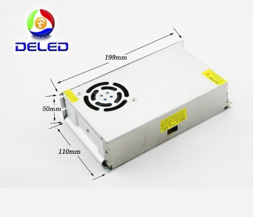 Deled Power Supply Adapter 25 Amp 300 Watt 110V-220V Ac To 12V Dc Switching Power Supply Converter Driver For Led Strip Light Protections: Short Circuit/Over Load/Over Voltage *High Efficiency To 90%, Long Life And High Reliability *Withstanding High Volt