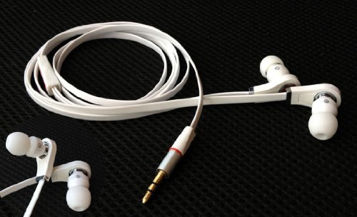 2 Packs White Earphones 3.5Mm In-Ear Earbud Headphone Plugs For Iphone Ipod Mp3 Ipad Pc Laptop Psp Mp3