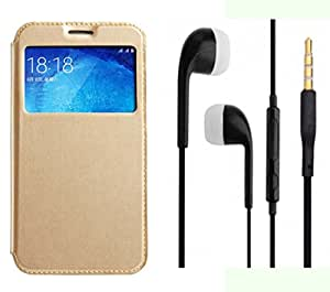 Novo Style Samsung Galaxy A5 2016 A510 Window View Premium Folio Flip Cover Case W Stand View + Earphone / Handsfree with 3.5mm jack