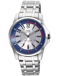 Q&Q Silver Dial Men's Watch - Q708N224Y