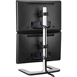 Atdec Visidec Freestanding Dual Vertical Display Mount . Up To 26.5Lb/Display; Up To 24\