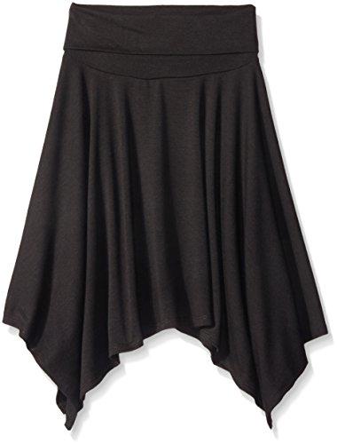 Amy Byer Big Girls Hanky Hem Skirt, Black, Large