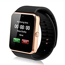 Life Like Gt08 Bluetooth Smartwatch With Sim & Sd Card Support - Gold