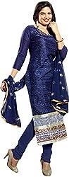 RADHE STUDIO Women's Cotton Un-Stitched Salwar Suit (RSOM YOUR 16005, Blue)