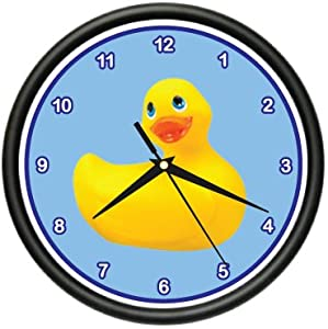 Amazon.com - RUBBER DUCKIE Wall Clock duck bathroom tub kids room