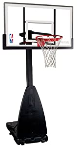 Buy Spalding Portable Basketball System - 54 Aluminum Trim Glass Backboard by Spalding