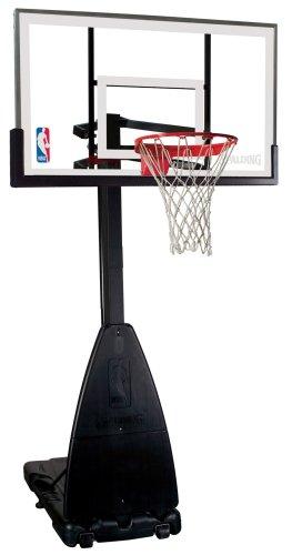"Spalding 68454 Portable Basketball System - 54"" Glass Backboard"