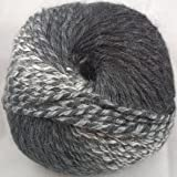 Feza Yarns Cyprus Mohair Grey Black #104