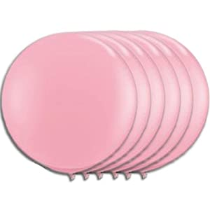 36 Inch Latex Balloon Powder Pink (Premium Helium Quality) Pkg/6 by PMU