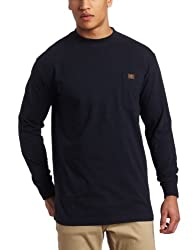 Wrangler Men's Riggs Workwear Long Sleeve Pocket T-shirt,Navy,X-Large