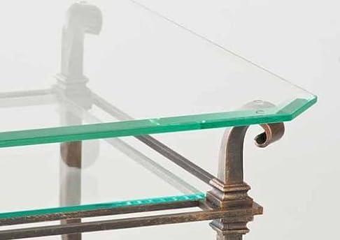 Quattro casa tavolino 6331di gkl con piano in vetro