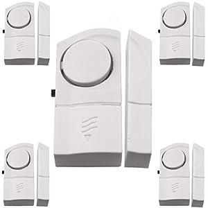 5 Stück Türalarm Fensteralarm Alarmanlage 90dB Alarm Fenster Tür Sicherheit