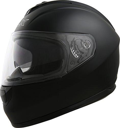 GLX-Dual-Visor-Matte-BlackFull-Face-Motorcycle-Street-Bike-Helmet
