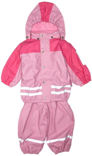 Playshoes Double Breasted Girl's Waterproof Rain Set with Fleece Lining Outfit Suit