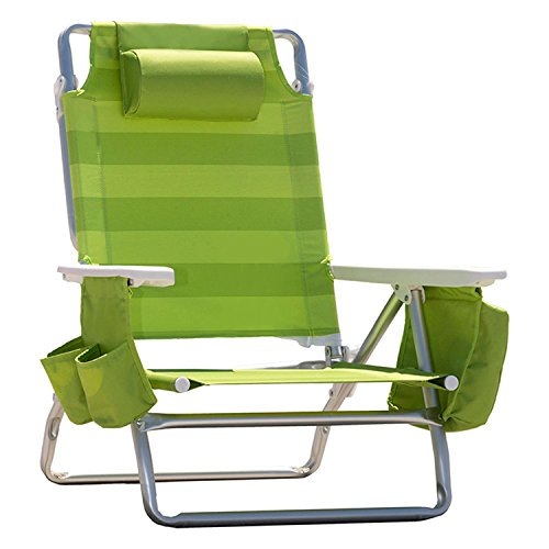 Nautica Reclining Portable Beach Chair With Insulated