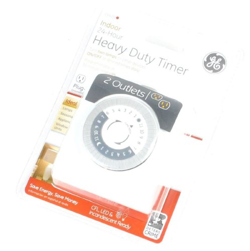 Ge Indoor 24-Hr. Heavy Duty Plug-In Timer W/2 Outlets - 15429