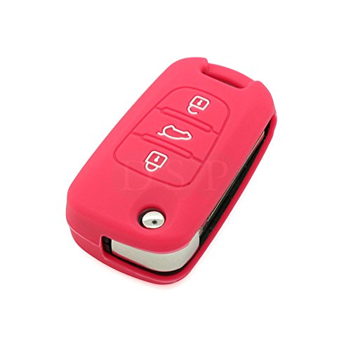 fassport-silicone-cover-skin-jacket-fit-for-kia-3-button-flip-remote-key-cv3151-rose