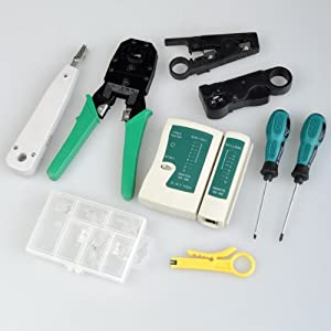 BestDealUSA RJ45 RJ11 Cat5 Network Tool Kit Cable Tester Crimp Lan