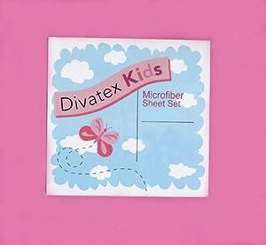 Amazon.com: Hot Pink Full Microfiber Sheet Set Divatex Kids Sheets ...