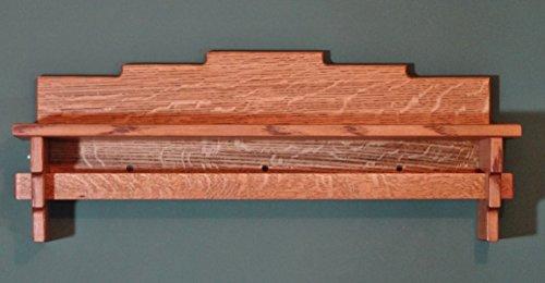 Craftsman Mission 29″ Quilt Wall Rack Shelf Quartersawn