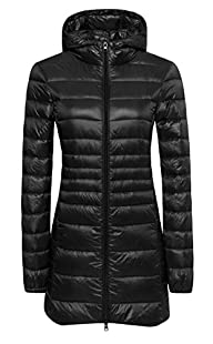 Wantdo Women's Lengthed Hooded Down J…