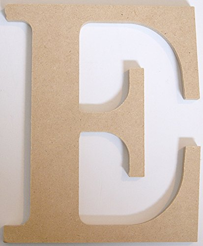 "Pressed Wood Initials Wall Decor - 8"" Classic E - 1"